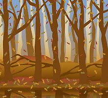 Forest in the Fall by Lisann