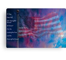 The Rockets' Red Glare Canvas Print