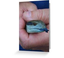 ~ Blue Tongue ~ Greeting Card