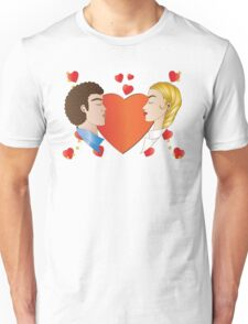 Love and Hearts  Unisex T-Shirt