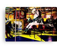 Barrys Amusements Carousel  Canvas Print