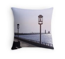 The Walk To The Pier Throw Pillow