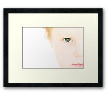 Green Eyed Monster Framed Print