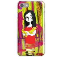 june & her crocodile iPhone Case/Skin