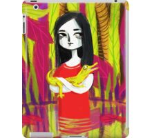 june & her crocodile iPad Case/Skin