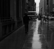 man walking in the rain by ShellyKay