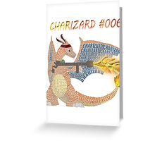 Charizard Flamethrower typography Greeting Card