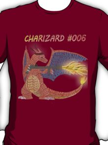 Charizard Flamethrower typography T-Shirt