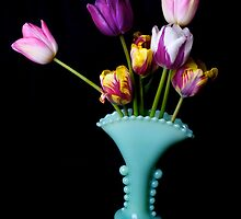 Tulips in a fancy vase by Jeffrey  Sinnock