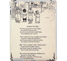 Miniature Under the Window Pictures & Rhymes for Children Kate Greenaway 1880 0019 Going to Tea iPad Case/Skin