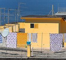 Clothes Drying - A Rooftop in Sorrento, Italy by T.J. Martin