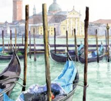 Italy Venice Gondolas Parked Sticker
