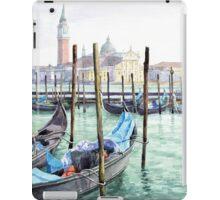 Italy Venice Gondolas Parked iPad Case/Skin
