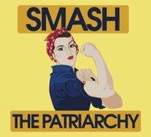 SMASH the patriarchy rosie riveter Kids Tee