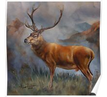 Prince of the Highlands - Red stag Poster