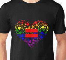 Hearts in Heart Love Wins design Unisex T-Shirt