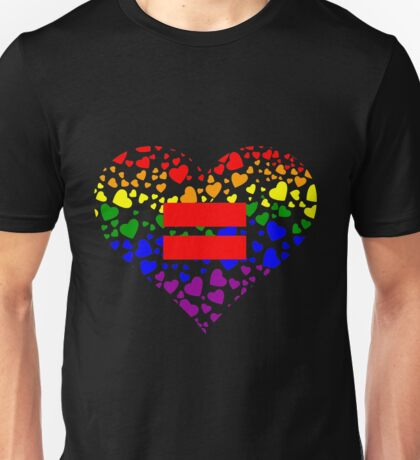 Hearts in Heart Love Wins design Unisex T-Shirt