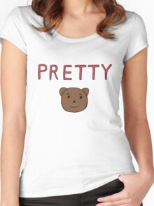 Anime Fashion: Pretty Bear Women's Fitted Scoop T-Shirt