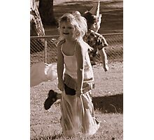Yippee! Jumping Bag Races! Photographic Print