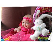 Baby Bella's First Easter Poster