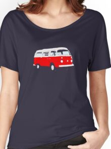 Bay Window Red White Essence (see description) Women's Relaxed Fit T-Shirt