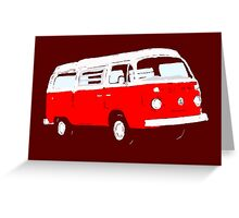Bay Window Red White Essence (see description) Greeting Card