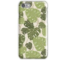 Cliff Hanger Monstera Leaf Hawaiian Print - Sage and Olive Green iPhone Case/Skin