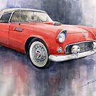 Ford Thunderbird 1955 Red by Yuriy Shevchuk