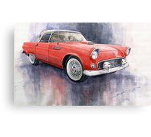 Ford Thunderbird 1955 Red Canvas Print