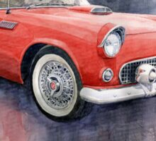 Ford Thunderbird 1955 Red Sticker