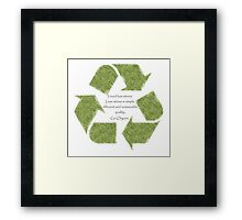 Go Organic and Sustain Yourself Framed Print