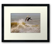 SURFER SURF Framed Print