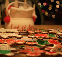 Kitchen Table at Christmastime by Samantha Bialachowski