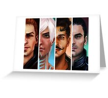 bioware boys Greeting Card