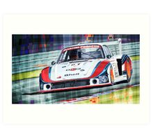 Porsche 935 Coupe Moby Dick Martini Racing Team Art Print