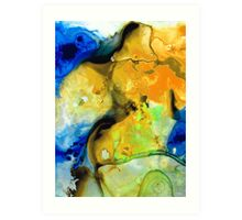 Walking On Sunshine - Abstract Painting By Sharon Cummings Art Print