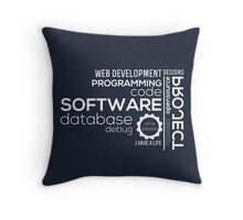 Programmer : Typography Programming Throw Pillow