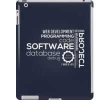 Programmer : Typography Programming iPad Case/Skin