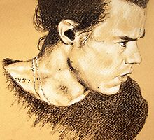 Harry on brown paper by drawpassionn