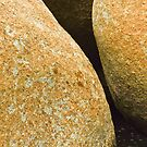 Boulder abstract. Fish Hoek beach, South Africa by Fineli