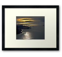 Over Boston Framed Print