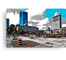 Downtown's Destruction Canvas Print