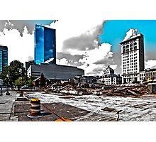 Downtown's Destruction Photographic Print