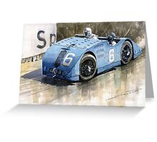 Bugatti Type 32 Tank 1923 French GP  Greeting Card