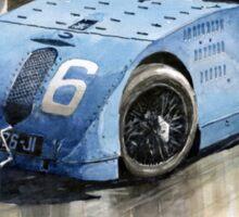 Bugatti Type 32 Tank 1923 French GP  Sticker