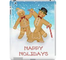 Christmas Gingerbread Trio with Candy Border iPad Case/Skin