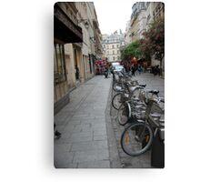 Paris bicycles Canvas Print