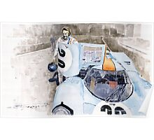 Porsche 917K Le Mans Steve McQueen Poster