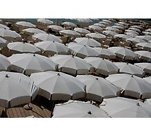 Umbrellas along the French Riviera Photographic Print