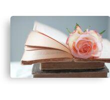 Rose in a Book Canvas Print